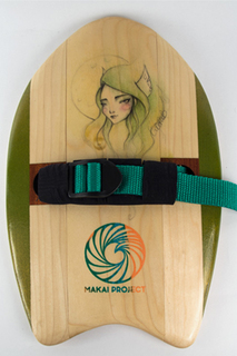 Green Sea Nymph - Fat Minnow Handplane - Wave Riding Machine - Handmade in South Florida