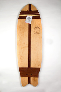 Mahogany and Maple Skateboard from Makai Project
