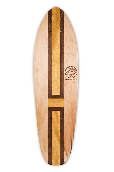 Kicktail Skateboard Deck made by Makai Project