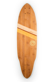 Bamboo Longboard Skateboard from Makai Project - Handcrafted in South Florida
