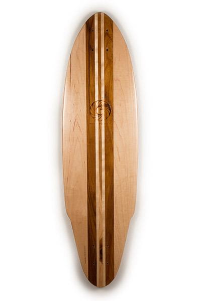 Teak, Maple and Aspen longboard skateborad from Makai Project