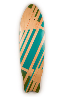 Color Block Graphic Art - Air Brushed, Handmade Skateboards by Makai Project and Rainy Sun Design