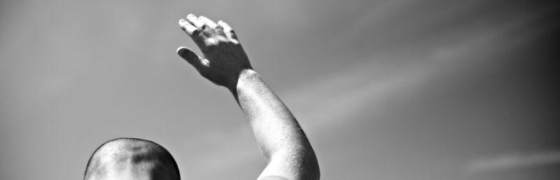 Man_with_Hand_raised