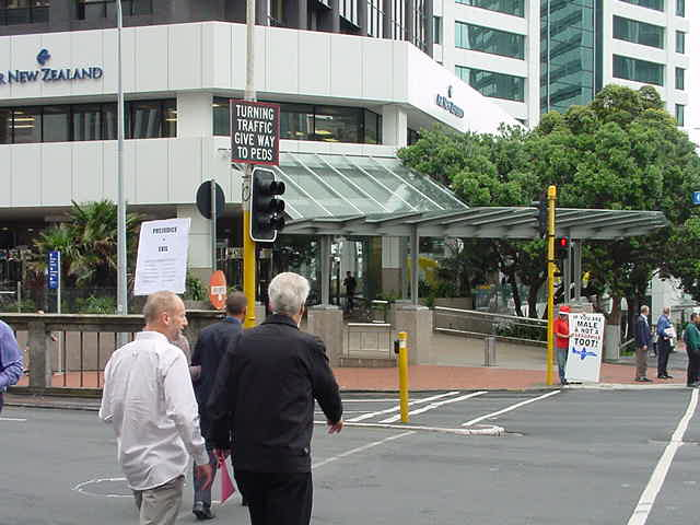 Air New Zealand Protest