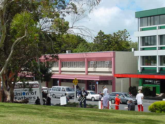 Union of Fathers outside Waitakere Court