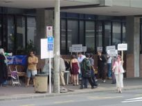 Protestors at Auckland Family Court