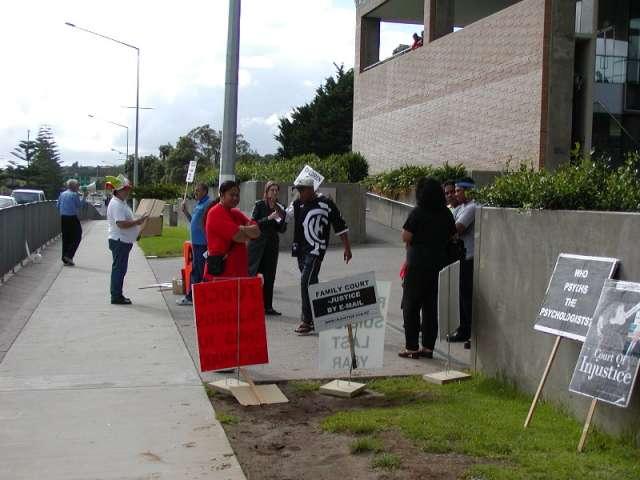 Manukau Court Protest photo1