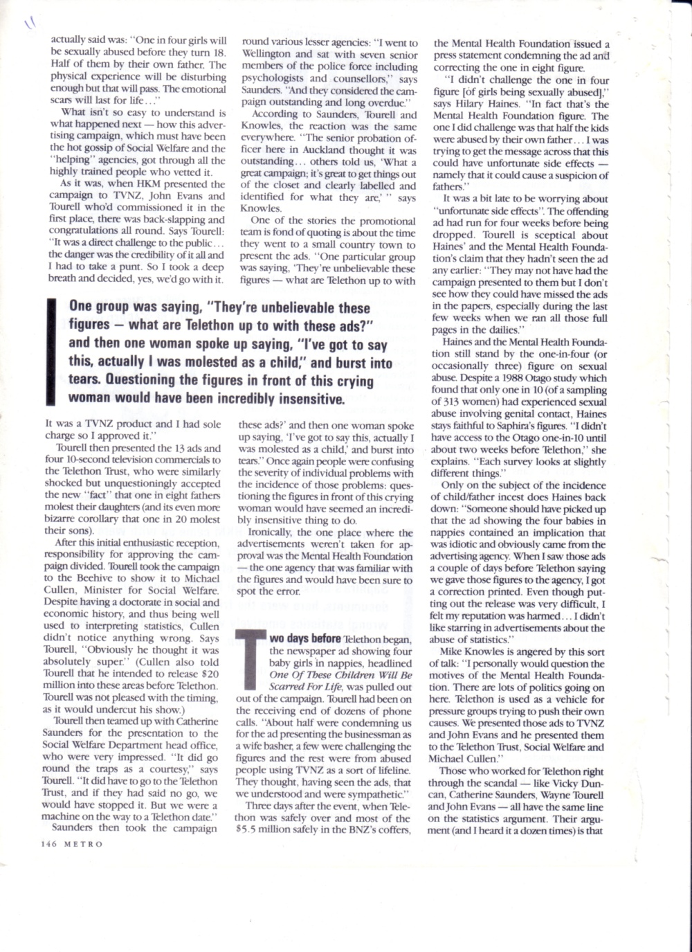 How the Mental Health Foundation is trying to drive us mad - Metro 0ct 1986 p11