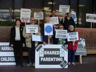 Protesters at Auckland Family Court