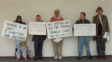 Porirua Family Court protest