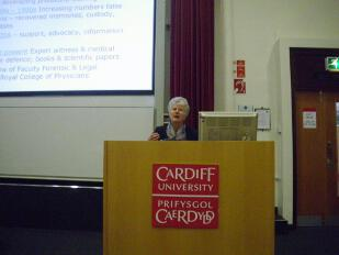 Felicity Goodyear-Smith speaking at the FACT conference