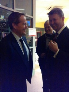 NZ Labour Party leader David Cunliffe and Australian Labor Party leader Bill Shorten