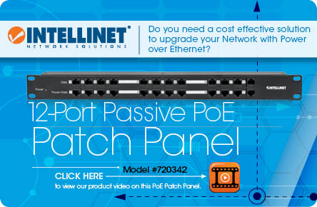 12-Port Passive PoE Patch Panel