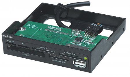 "Multi-Card Reader/Writer - , Hi-Speed USB, 3.5"" Bay Mount, 60-in-1"