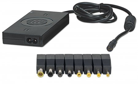Universal Notebook Power Adapter - , Automatic Adjustable Voltage, 5 Output Levels, 70 W