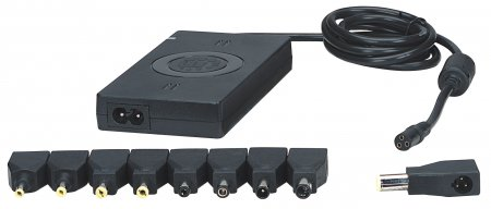 Universal Notebook Power Adapter  - , Automatic Adjustable Voltage, 7 Output Levels, 90 W, USB