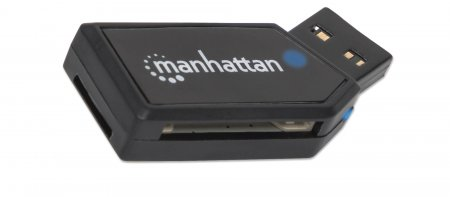 Mini USB 2.0 Multi-Card Reader/Writer MANHATTAN Hi-Speed USB 2.0, mobil, 24-in-1