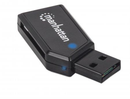 Mini USB 2.0 Multi-Card Reader/Writer MANHATTAN Hi-Speed USB 2.0, mobil, 24-in-1