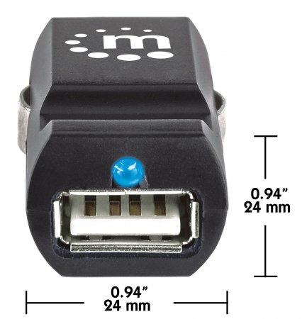Kfz-Ladegerät PopCharge Auto mit 1 USB-Port MANHATTAN Stellt 1 USB-Port an Ihrem Zigarettenanzünder zur Verfügung