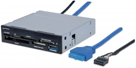 "Multi-Card Reader/Writer - , SuperSpeed USB 3.0, 3.5"" Bay Mount, 48-in-1"