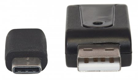USB Typ C/Typ A-Kombo Multi-Card Reader/Writer MANHATTAN Hi-Speed 2.0, mobil, 24-in-1