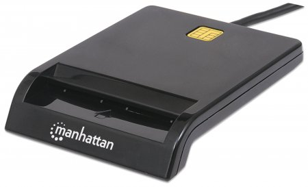 Smart Card Reader - Compact, contact USB friction-type smart card reader that is ideal for transactions and applications requiring secure information exchanges, USB, Contact Reader, External