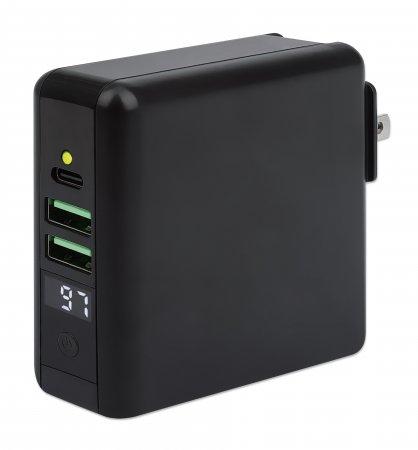 4-in-1 Reiseladegerät und Powerbank 8.000 mAh MANHATTAN 102452 (BILD1)