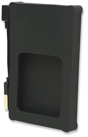 "Drive Enclosure - , Hi-Speed USB 2.0, SATA, 2.5"", Black, Silicone"