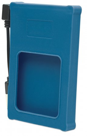 "Drive Enclosure - , Hi-Speed USB 2.0, SATA, 2.5"", Blue Silicone"