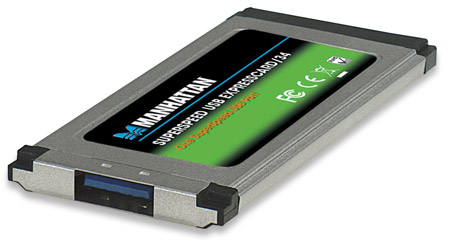 SuperSpeed USB ExpressCard/34 - , One SuperSpeed USB port