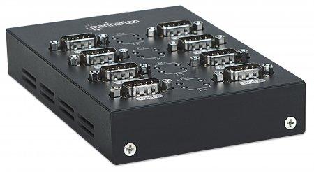 USB auf Seriell-Konverter MANHATTAN Zum Anschluss von bis zu acht seriellen Geräten an einen USB-Port, MosChip MCS7840-Chipsatz, 0,45 m