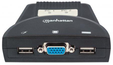 Manhattan Products 2Port Mini KVM Switch 151245