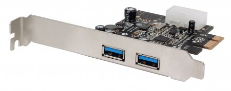 SuperSpeed USB 3.0 PCI Express Card - , Two external SuperSpeed USB 3.0 ports, x1 lane