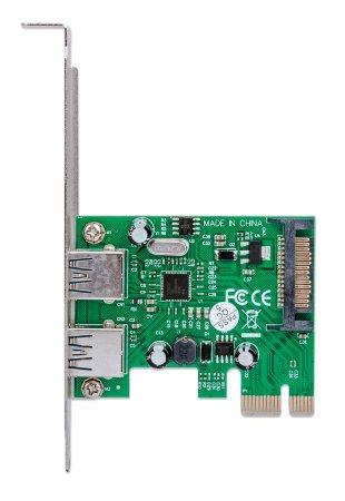 USB 3.0 PCI Express Karte MANHATTAN Zwei externe USB 3.0-Ports, PCI-E x1