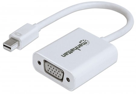 Mini DisplayPort to VGA Adapter - Connects a Mini DisplayPort source to VGA display cable, Mini DisplayPort Male to VGA Female, Active