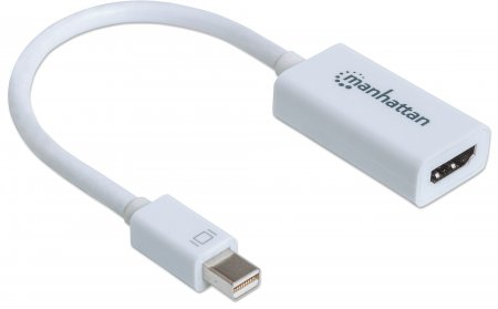 Passiver Mini-DisplayPort auf HDMI-Adapter MANHATTAN Mini DisplayPort-Stecker auf HDMI-Buchse, passiv, Blister-Verpackung — ideal for Mac-Computer