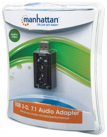 Hi-Speed USB 3D 7.1 Sound Adapter
