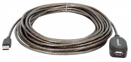 Hi-Speed USB 2.0 Repeater Kabel MANHATTAN In Reihe schaltbar, A-Stecker / A-Buchse, 10 m