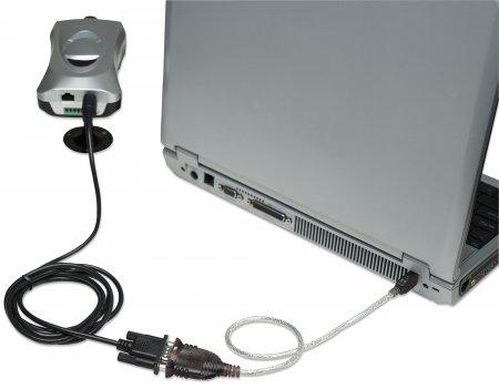 USB auf Seriell-Konverter MANHATTAN Zum Anschluss eines seriellen Geräts an einen USB-Port, Prolific PL-2303HXD-Chipsatz, 0,45 m