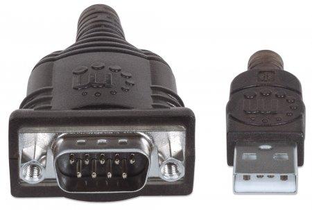 USB auf Seriell-Konverter MANHATTAN Zum Anschluss eines seriellen Geräts an einen USB-Port, Prolific PL-2303RA-Chipsatz, 1,8 m