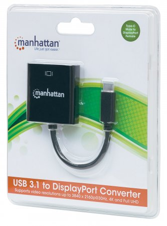 SuperSpeed+ USB-C 3.1 to DisplayPort Converter