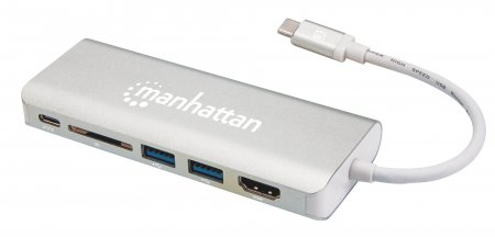 SuperSpeed USB-C Multiport-Adapter MANHATTAN USB 3.1 Typ 152075 (BILD2)