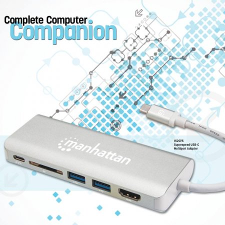 SuperSpeed USB-C Multiport-Adapter MANHATTAN USB 3.1 Typ 152075 (BILD6)