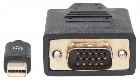 Mini-DisplayPort 1.2a auf VGA-Kabel MANHATTAN Mini-DisplayPort 1.2a-Stecker auf VGA-Stecker, 1,8 m, schwarz