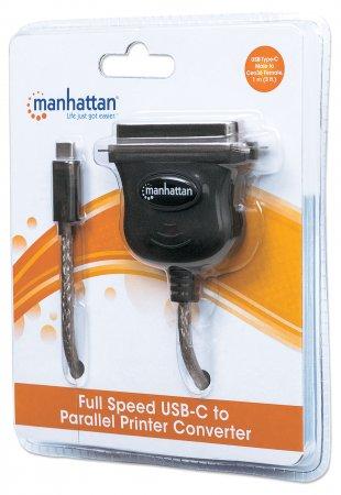 Full Speed USB-C to Parallel Printer Converter, Cen36