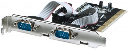 Serial PCI Card - , Two External DB9 Ports