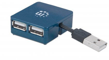 Hi-Speed USB Micro Hub - Incredibly small but fully capable, 4 Ports, Bus Power