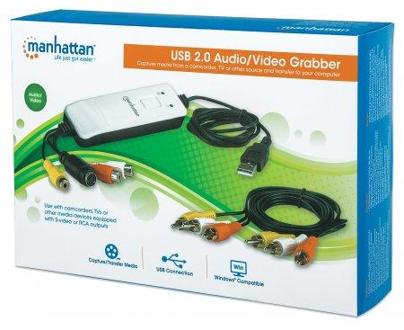 Manhattan Products - Hi-Speed USB Audio/Video Grabber (161336)
