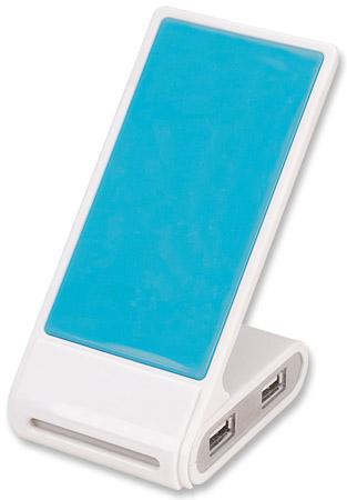 Bestpreise: Hi-Speed USB 2.0 Hub mit Handyhalterung MANHATTAN 4 Ports, Stromversorgung über USB