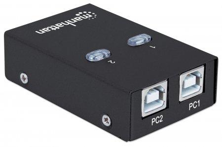 2-Port USB 2.0-Umschalter MANHATTAN 1 x USB-A-Port auf 2 162005 (BILD2)